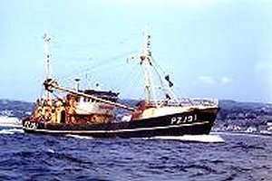 Newlyn Fishing Boat at Sea